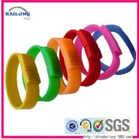 China Wholesale Sport Printed Silicone Bracelet