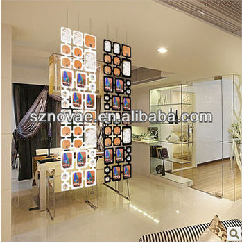 Flexible Multi Functional Pvc Soft Hanging Room Divider Folding Picture Frame Folding Screen