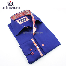 Latest formal shirt designs for men fashion plaid fabric cheap shirts for men