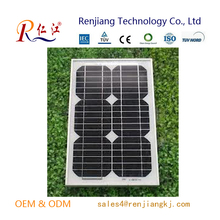 Global High Efficiency pv 12v 5w Solar Panels Mono With Outlet For Sale