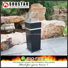 Stainless steel & Steel body, Free Standing Style Fireplace