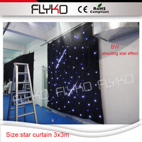dj equipments producing with meteor shower led fairy lights led curtain for dj booth