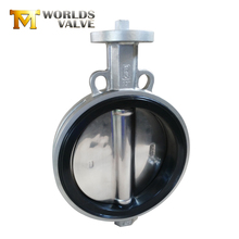 Tianjin factory jis 5k wafer type aluminium body bare stem butterfly valve weight