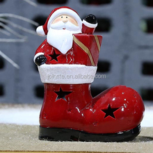 Chinese ceramic Christmas shoes ornament