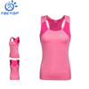 Women's Sleeveless Mixed Color T- shirt Breathable Cooldry 100%Polyester Eyelet