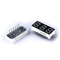 Distributor selling 0.36 inch Red color mini 7 segment display 3 digit common cathode led for seven segment display