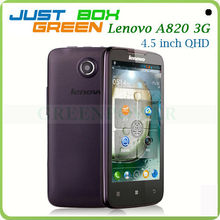 2013 Latest Slim Mobile phones Lenovo A820 Quad core 4.5'' IPS Big Screen 1GB 4GB Android OS 4.1 Dual Sim Long Time Battery.
