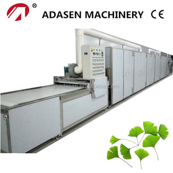 China supplier industrial microwave drying machine for ginkgo leaves