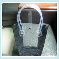 2015 Promotional Clear PVC Ziplock Shopping Bag with Pipe Handle