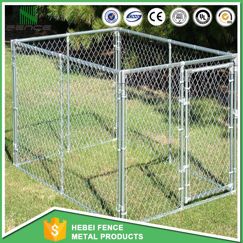 New design more secure metal dog house,outdoor temporary dog run kennel fence