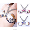 New Design Sexy female chastity belt for girls Breast Protection Bra Cup Stainless steel Inner Silicone