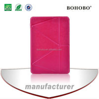 Transformer stand case for ipad air leather case hot pink color