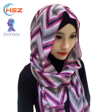 Zakiyyah V059 Custom Scarf No Minimum Modern Designs Twilly Scarf for Muslim Girls Chinese Manufactures