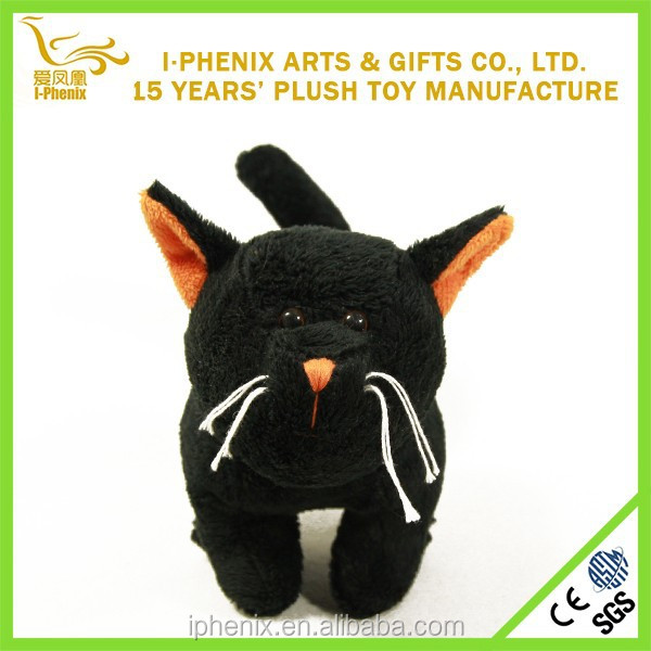 Plush Bat Toy Black Cat Stuffed Plush Halloween Toy Decoration
