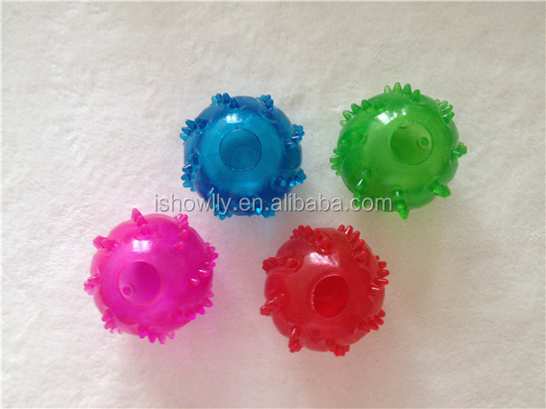 New develop Eco-friendly dog rubber toy TPR food treat ball toy