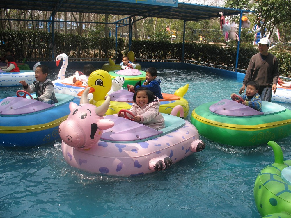 CE Approved Kids Playing Car Inflatable Electric Bumper Boat