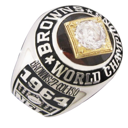 Stainless Steel 1964 Cleveland Browns NFL Championship Ring
