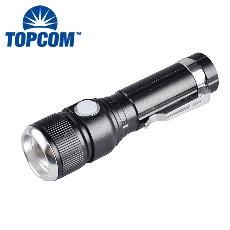 Waterproof mini Torch T6 LED Li-ion Battery Super Brightness USB Tactical Flashlight
