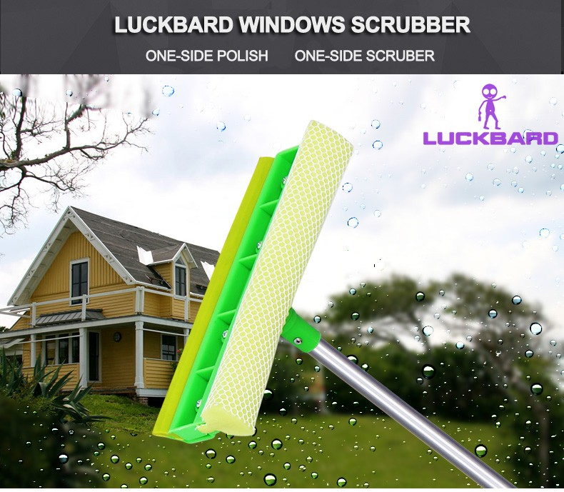 Eco Friendly Wood Pole Steel Fork Window Glass Cleaner