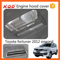 auto engine parts toyota fortuner chrome engine hood scoop cover car engine cover for toyota fortuner 2014 accessories