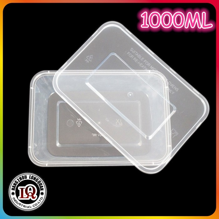 1000ML PP plastic injection molded square food packing box