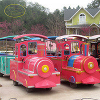 Outdoor christmas trackless train outdoor and Indoor zoo track train for shopping mall stanley park train photo