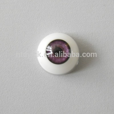 Factory supply toy accessories half round large plastic blinking eyes