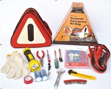 car emergency kit with booster cable,Safety tool in triangle bag