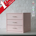 Study Room Furniture Metal Drawer Storage Box With 3 Drawers On The Desk