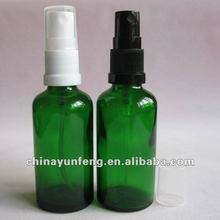 50ML Green Glass Bottle with Atomizer for liquid cosmetic spray