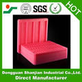 Recycled red polystyrene foam tray