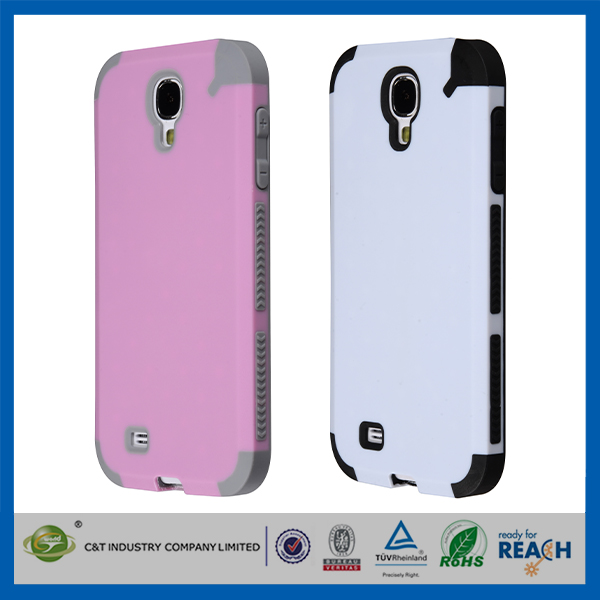 C&T Hybrid Rubber Plastic Impact Defender Rugged Slim Hard Case Cover Shell For Samsung Galaxy S4