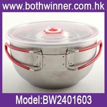 Plastic salad bowl with lid ,h0tKQA stainless steel thermal serving bowl for sale