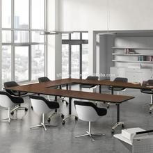 high-quality office desk Aluminum Electroplate foot Conference table and folding table export china furniture