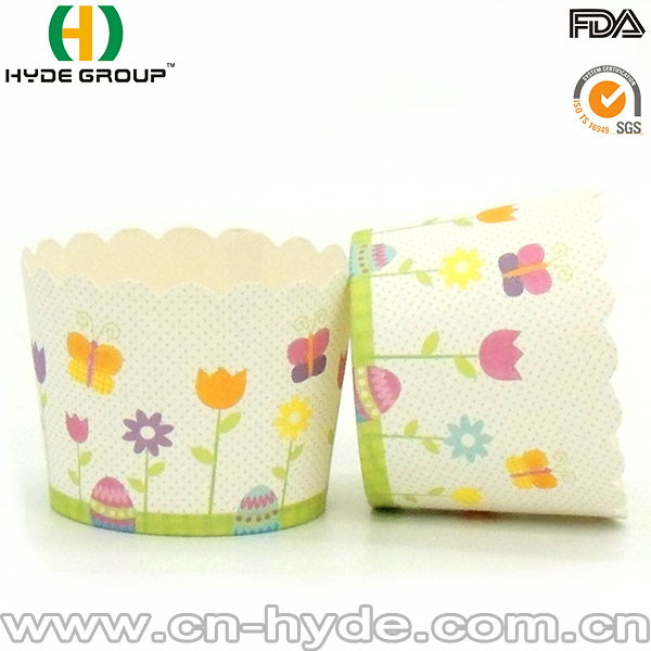 Vending Disposable Square Paper Baking Cups For Cake