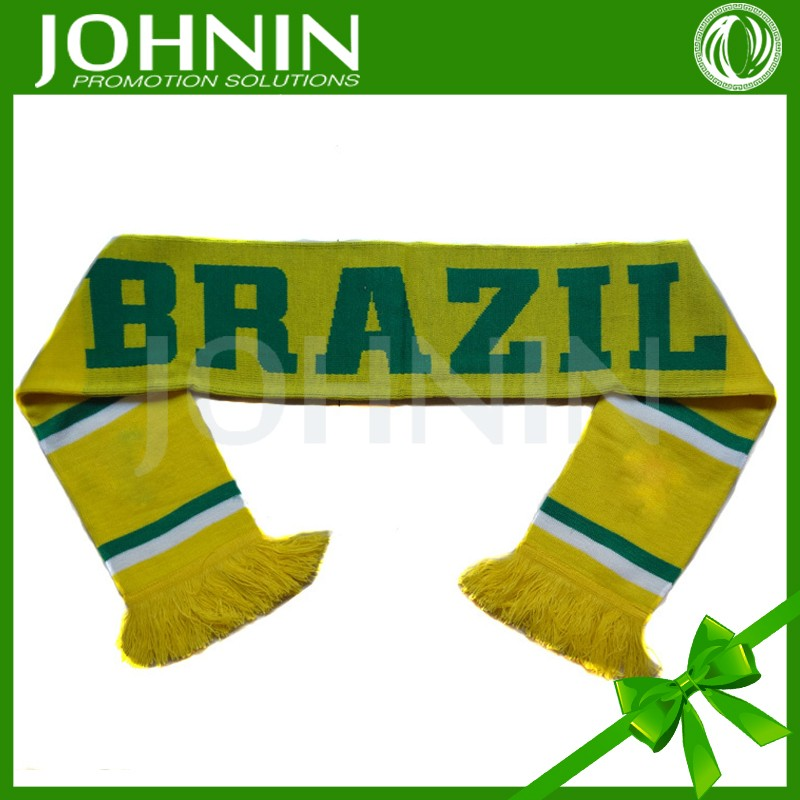 custom design double layers muffler soccer football fan scarf