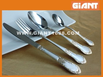 Highly quality gold plated cutlery set