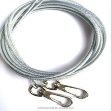 Durable Transparent Steel Wire Rope Slings Assembly 1*7 7*19 With Hook Clips,for hanging,lighting and display