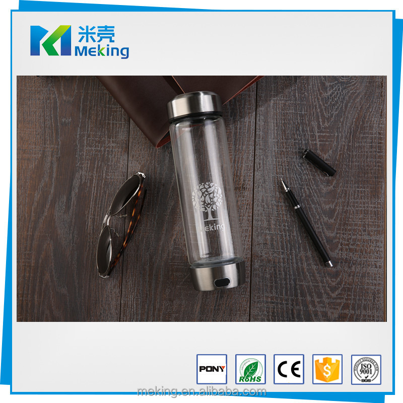 USB Water Bottles Anti Aging Bottle Intelligent Hydrogen Rich Water Maker Ionizer Maker with Colorful Lights