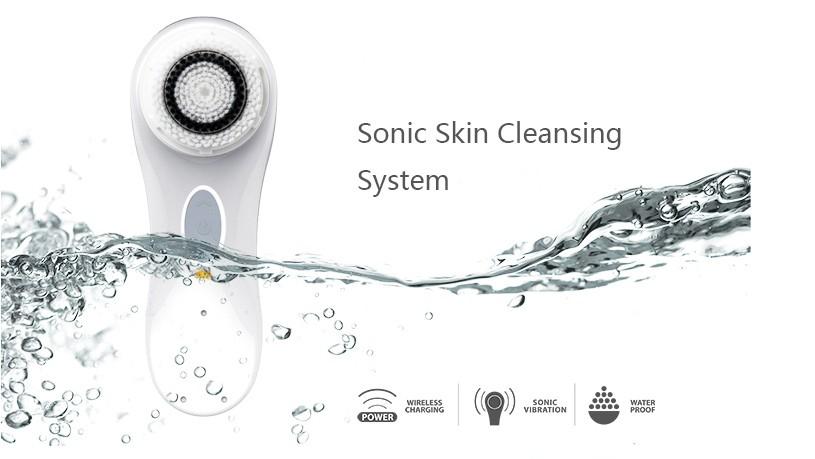 Guangzhou beauty equipment Professional anti wrinkle massager facial skin care tool facial cleanser facial brush