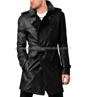 Raglan Sleeved Cozy Leather Trench Coat AP-2909