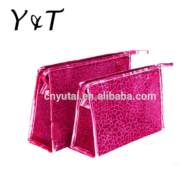 Leather promotional cosmetic bag with eco certifications