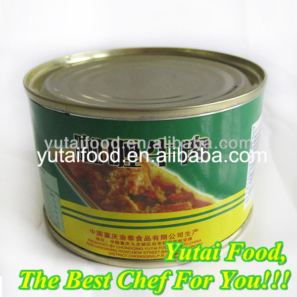 Chinese Canned Food Curry Beef with Potato Halal Product