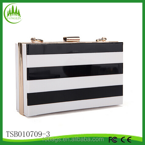 2014 hot selling new arrival China personal fashion make up acrylic clutch bag