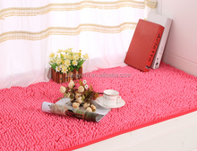 Low price storage plain 100% polyester silk bedroom use shaggy carpet