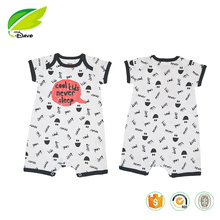 2017 Cheap High Quality Baby Clothes White Summer 100%Cotton Short Sleeves with Printing Newborn Infant Baby Bodysuits