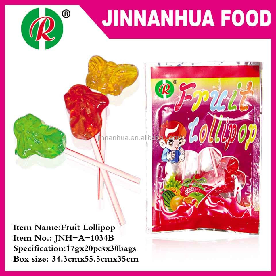 fruit flavor fruit shape lollipop