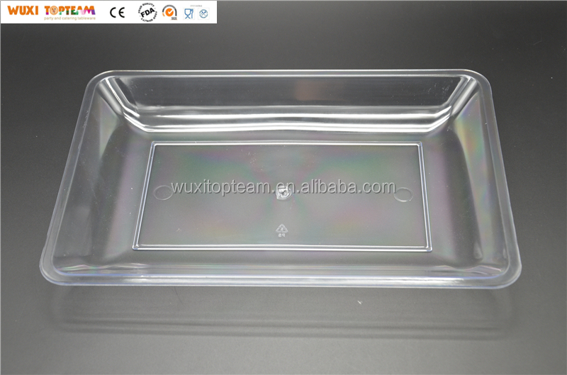 Plastic Reusable Party Food Tray Plastic Serving Tray