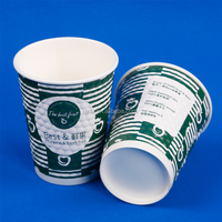 Compostable Disposable Embossed Large Square Paper Cup