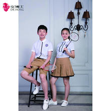 Preppy style design school T-shirt school uniforms wholesale